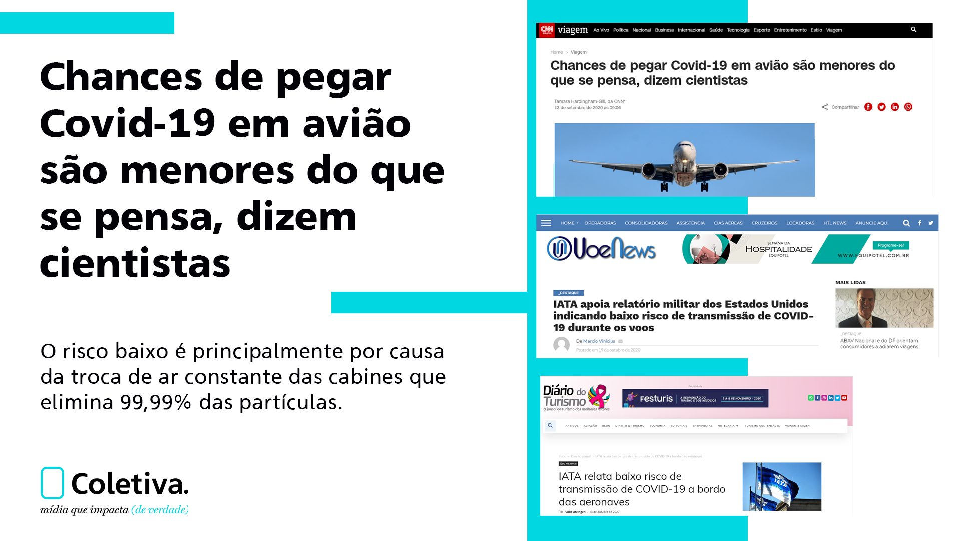 CHANCES DE PEGAR O COVID-19 EM AVIÃO SÃO MENORES DO QUE SE PENSA, DIZEM CIENTISTAS
